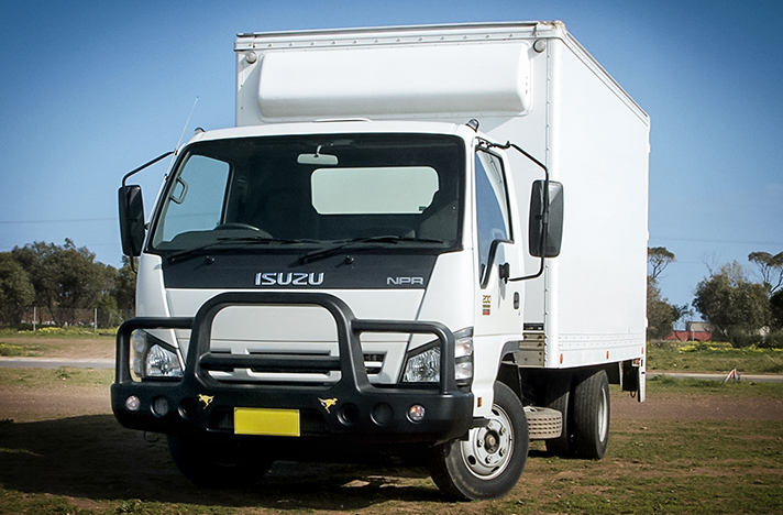 Isuzu NPR NPS NQR NNR 2008 with a SmartBar bull bar