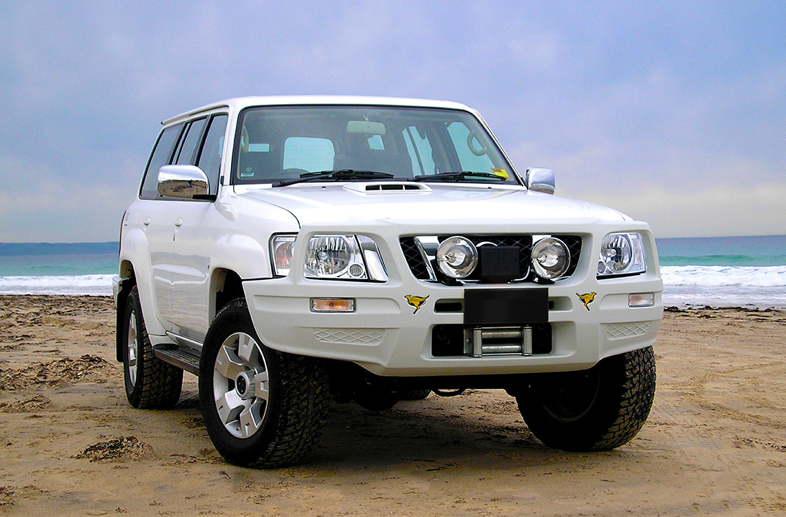Nissan Patrol 2004 with a SmartBar SpartanBar bull bar