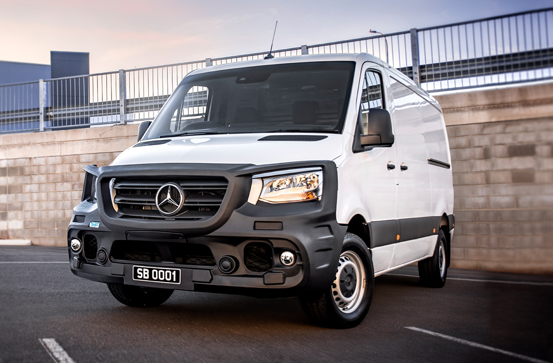 Mercedes Sprinter 2018+ with a SmartBar bull bar