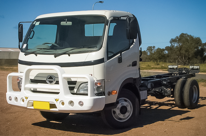 Hino Dutro 300 2006-2014 with a SmartBar bull bar