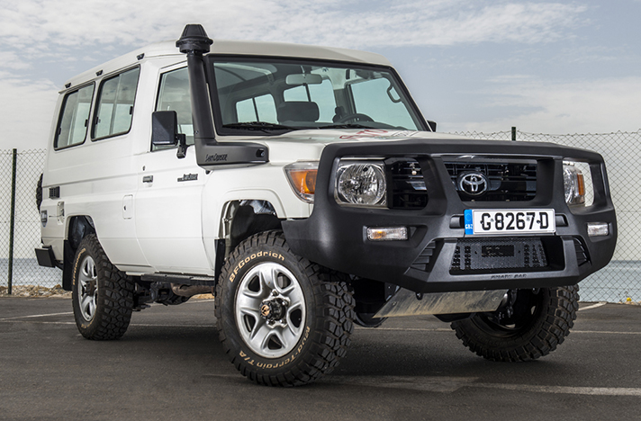 Toyota LandCruiser with a SmartBar bull bar